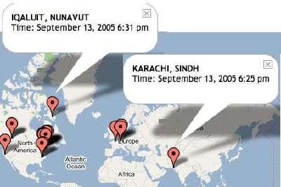map of slaw visitors